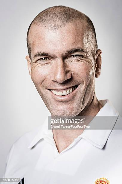 January 11: Footballing legend Zinedine Zidane is photographed for FourFourTwo magazine on January 11, 2013 in London, England.