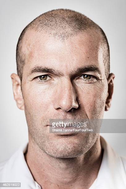Footballing legend Zinedine Zidane is photographed for FourFourTwo magazine on January 11 2013 in London England