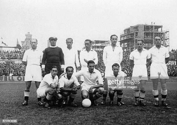 Footballteam Admira before the match against AC Sparta in Prague Photograph Around 1935 [Mannschaft der Admira vor dem Spiel gegen AC Sparta in Prag...