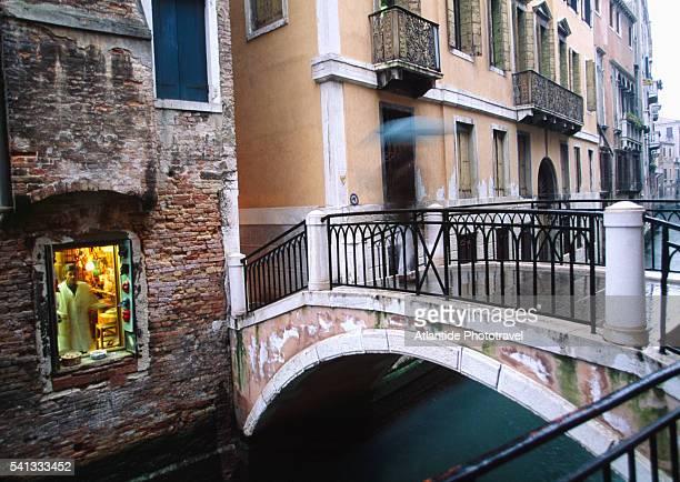 Footbridge in Dorsoduro Area of Venice