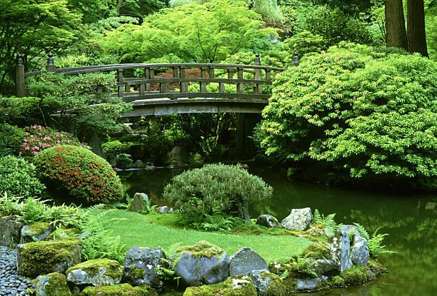 footbridge: japanese garden  portland, oregon