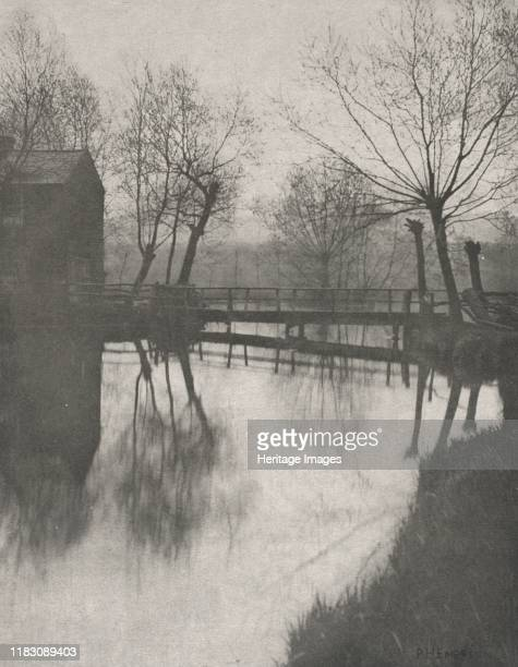 Footbridge Near Chingford, from The Compleat Angler, 1888. Creator Charles Meryon .