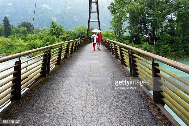 Footbridge over Reuss River