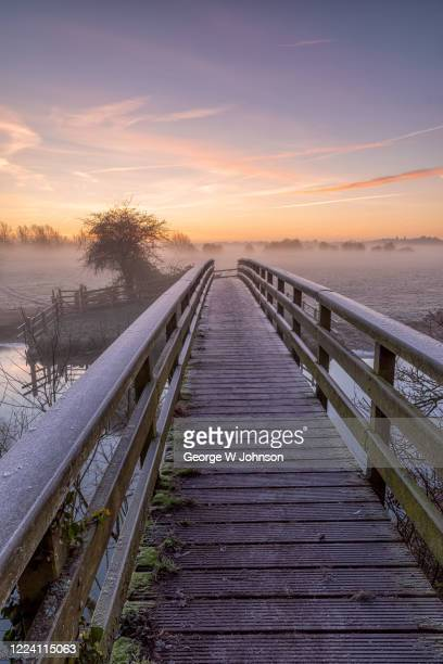 footbridge - george wood stock pictures, royalty-free photos & images