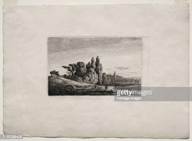 Footbridge with Cross before Trees at a River, c.1803. Creator John Henry Twachtman .
