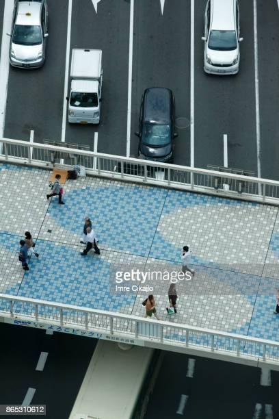 footbrige - 大阪ビジネスパーク ストックフォトと画像
