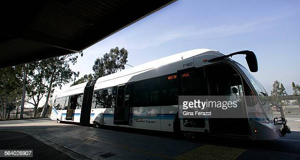 Foothill Hill Transit unveiled its new Silver Streak bus service Thursday which begins on March 18 2007 The 60 foot articulated buses will also have...