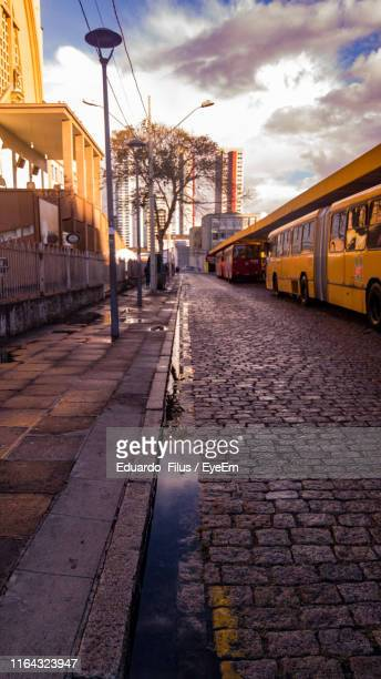 footpath in city - curitiba stock pictures, royalty-free photos & images