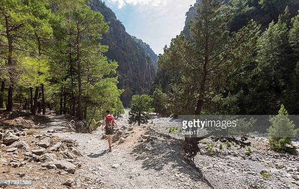 Footpath in the Samaria Gorge, Crete