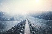 Footpath In Winter