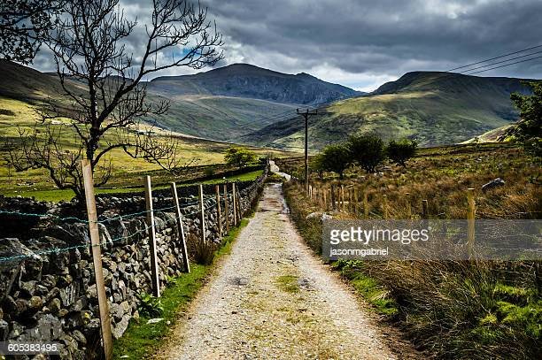 Footpath leading to Mount Snowdon, Bangor, Wales, UK