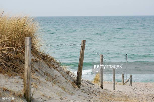 Footpath to beach with Wooden Post