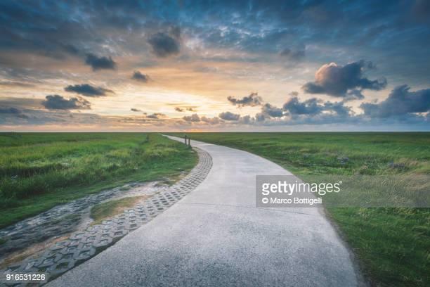 footpath to the sunset - 散歩道 ストックフォトと画像