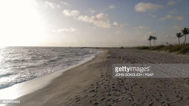Footprints at beach, Sanibel Island