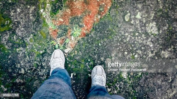 footsteps 2 - quadrado composição - fotografias e filmes do acervo