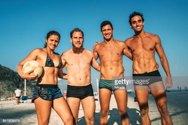 Footvolley Team in Rio de Janeiro, Brazil