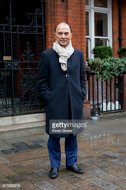 Footwear and accessories designer Jimmy Choo on day 2 during London Fashion Week Autumn/Winter 2016/17 on February 20, 2016 in London, England.