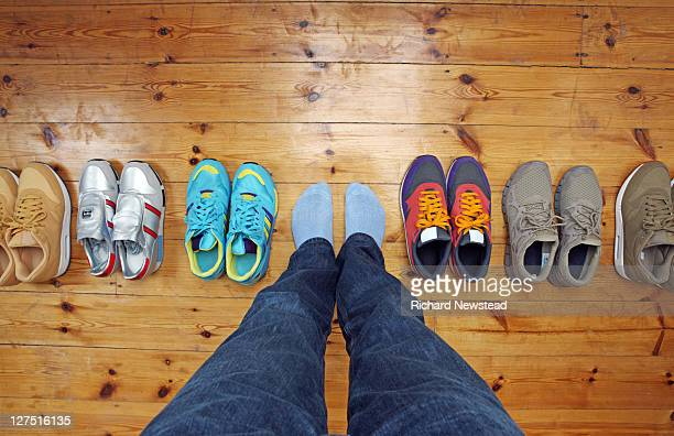 footwear decisions - choice stock pictures, royalty-free photos & images