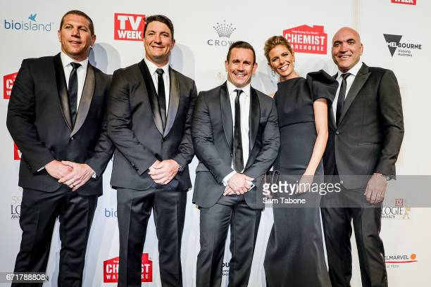 NRL footy show arrives at the 59th Annual Logie Awards at Crown Palladium on April 23 2017 in Melbourne Australia