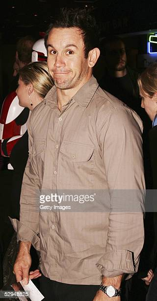 Footy show's Matthew Johns attends the premiere of 'Star Wars Episode III Revenge of the Sith' at the Fox Studios on May 18 2005 in Sydney Australia