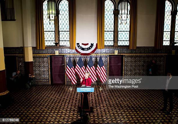 HARRISBURG PA For a day of Pennsylvania campaigning Democratic Nominee for President of the United States former Secretary of State Hillary Clinton...