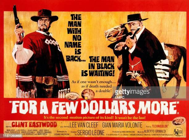 For A Few Dollars More, poster, from left, Clint Eastwood, Lee Van Cleef, 1965.
