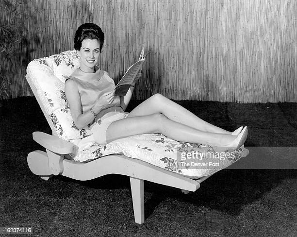 JUN 9 1963 For a lazy summer afternoon it's hard to beat this contoured chaise pictured here with NBC's actress Eileen O'Neill And the chaise is easy...
