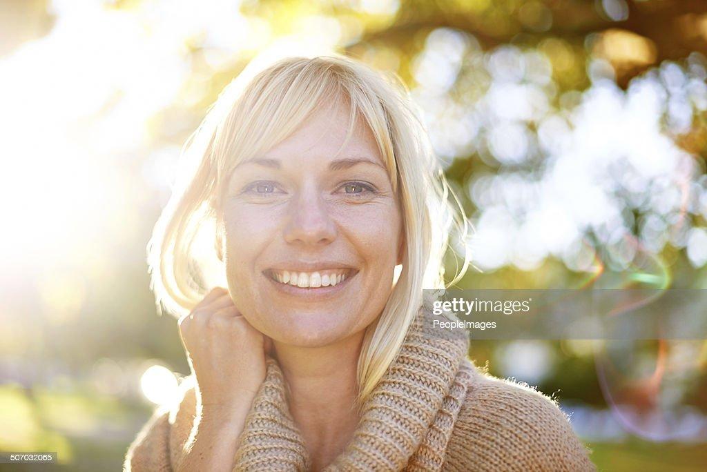 Ein Lächeln, die hell wie der Tag : Stock-Foto