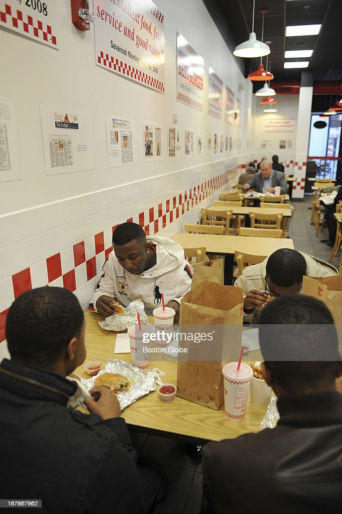 For a special on burgers, The Boston Globe visited Five Guys in