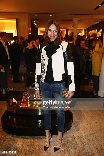 FENDI for Annette Weber attends FENDI boutique opening on March 18 2014 in Munich Germany