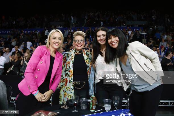 MP for Auckland Central Nikki Kaye sits courtside wit guests during the round six NBL match between the New Zealand Breakers and the Perth Wildcats...