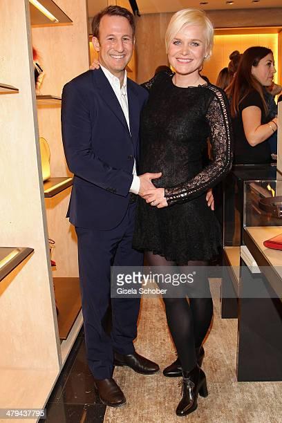 FENDI for Barbara Sturm and Adam Waldman attend FENDI boutique opening on March 18 2014 in Munich Germany