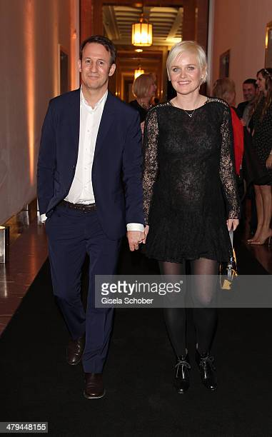 FENDI for Barbara Sturm and Adam Waldman attend Karl Lagerfeld 'The Glory Of Water' exhibition opening at Haus der Kunst on March 18 2014 in Munich...