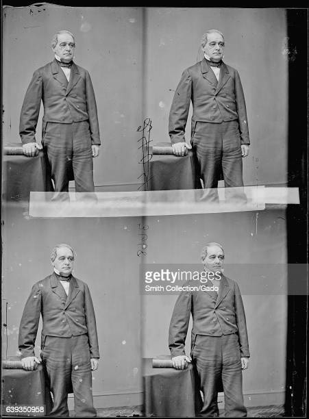 For copies of a threequarter length standing portrait of Hannibal Hamlin American attorney and Maine politician 1863 Image courtesy National Archives