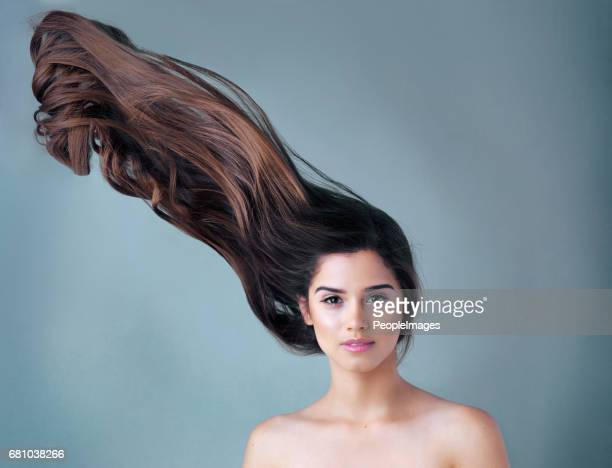 for hair that won't let you down… - thick white women stock photos and pictures