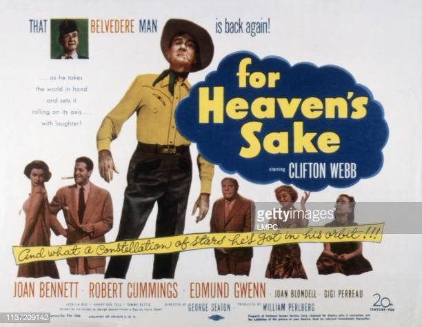 For Heaven's Sake lobbycard US poster art Joan Bennett Robert Cummings Clifton Webb Edmund Gwenn Joan Blondell Gigi Perreau 1950