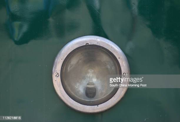 For Hong Kong Tramways 110th anniversary backpage Head lamp of a tram maintained at Hong Kong Tramways Whitty Street tram depot 09JUL14