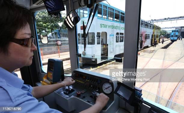 For Hong Kong Tramways 110th anniversary backpage Hong Kong Tramways motorwoman Fung Waikam who has 19 years of service tests a tram at Whitty Street...