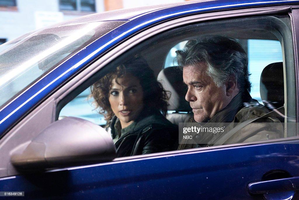 BLUE -- 'For I Have Sinned' Episode 112 -- Pictured: (l-r) Jennifer Lopez as Det. Harlee Santos, Ray Liotta as Bill Wozniak --
