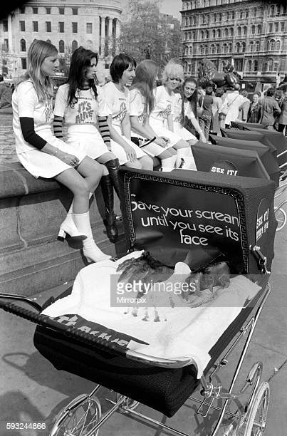 For inside the prams were large clawlike hands and the young ladies were in fact publicising 'It's Alive' a new X Certificate film which opens in...