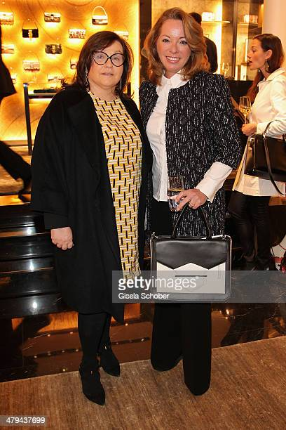 FENDI for Karin Holler and Sabina Frohwitter attend FENDI boutique opening on March 18 2014 in Munich Germany