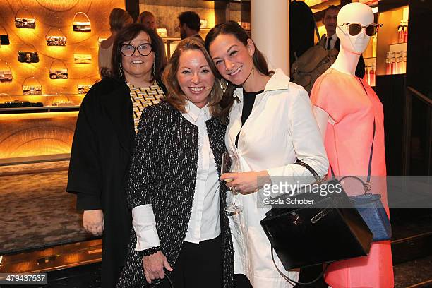 FENDI for Karin Holler Sabina Frohwitter and Charlotte von Oeynhausen attends FENDI boutique opening on March 18 2014 in Munich Germany