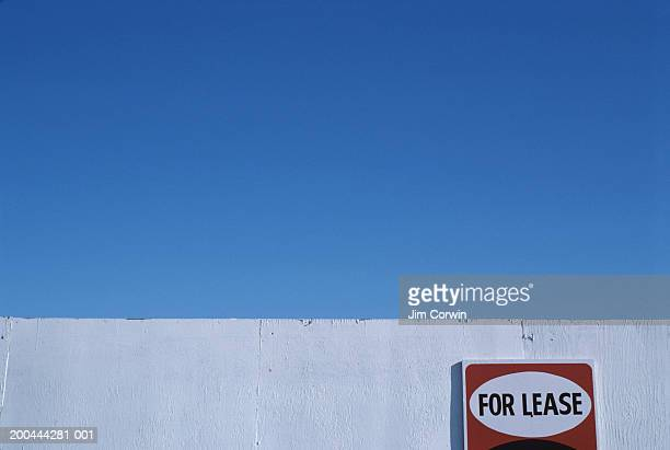 For lease sign on wall