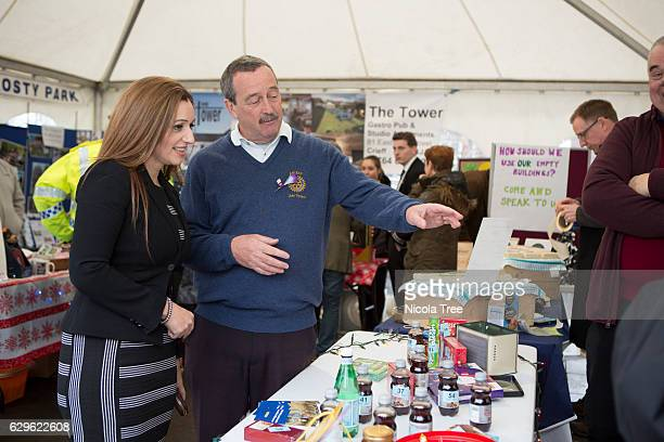 MP for Ochil and South Perthshire Tasmina AhmedSheikh meets with constituents and stall holders as she visits a Christmas market in part of her...