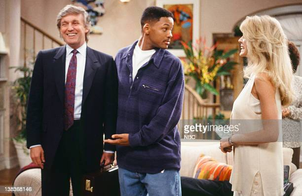 """For Sale By Owner"""" Episode 25 -- Pictured: Donald Trump as Himself, Will Smith as William 'Will' Smith, Marla Maples as Herself"""