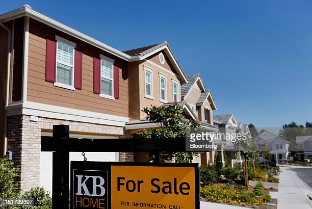 "For Sale"" sign is displayed in front of a house at the KB Home's Whisler Ridge housing community in Lake Forest, California, U.S., on Monday, Sept...."