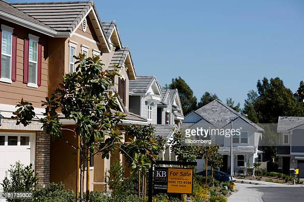 "For Sale"" sign is displayed in front of a house in the KB Home's Whisler Ridge housing community in Lake Forest, California, U.S., on Monday, Sept...."
