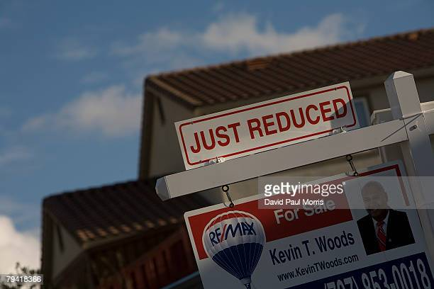 A for sale sign is seen on a single family home January 30 2008 in Vallejo California December sales of existing single family homes in the Bay Area...