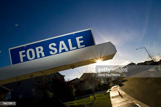 For sale sign is seen on a single family home January 30, 2008 in Vallejo, California. According to the California Association of Realtors in...