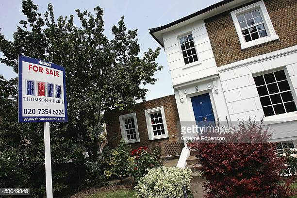 For Sale sign is seen outside a house on June 10 2005 in London England Towards the end of 2004 the most hawkish forecasters were contemplating a...